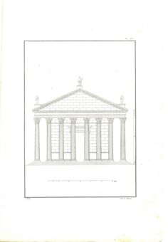 Baptistry of Constantine Architectural Drawing by Andrea