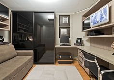 Home office fotos Home Office Design, Home Interior Design, House Design, Room Interior, Guest Room Office, Bedroom Office, Men's Home Offices, Home Tv, Home Studio