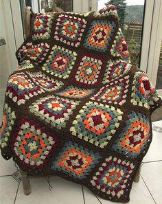 Ravelry: WoolnHook's Autumn Granny Blanket