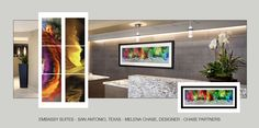 HILTON EMBASSY SUITES - SAN ANTONIO, TX. GRAPHIC ENCOUNTER FINE ART RECENT PROJECT