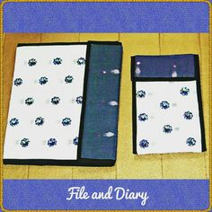TITLE : Navy Blue. MEDIUM :Motif work on cloth. #MeghnaCreations #creations #filefolderdiary #white #navyblue #motifwork #fresh #summer #wear #elegant #chic #gifting #mumbai #pintrest