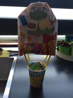 schooltraktatie koningskikker als luchtballon