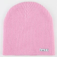 Pink color Neff Reversible Beanie Brand New With Tags