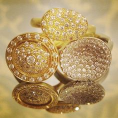Deal of the Day!! These gorgeous rings by Anne Sportun are 30% off during our Summer Sale! #dealoftheday #dailydeals #sale #summer #diamonds #rings #pave #round #save #buy #wearlosangeles #la #white #yellow #gold #fine #jewelry #instagems #instajewels