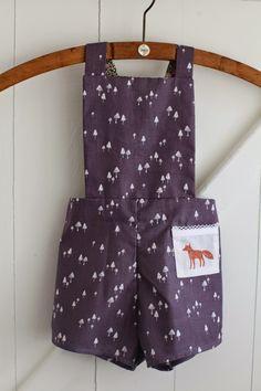 too cute kiddy dungarees in Dashwood Studio fabrics. Sewing inspiration