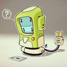 #BOTOBER 13-002 - '?' #robotsalldaylong #creativelife - by Dacosta!