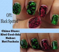 The Manicured Monkey: OPI: Black Sotted Over Neons!