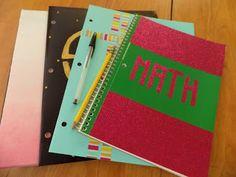 Chasing College: DIY School Supplies #folder #binder #notebook