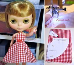 An easy petticoat dress for Blythe by jaszmade tutorial with free pattern