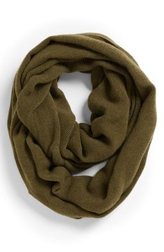 Leith Two-Tone Infinity Scarf Olive/ Black