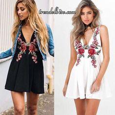 Trendelbise.com sayesinde Çiçek Desenli Muhteşem Elbise - Siyah elbiseyi hemen alın.