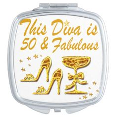 GLAMOUR GOLD 50TH VANITY MIRRORS http://www.zazzle.com/jlpbirthday/gifts?cg=196980685432165739 #50thbirthday #50yearsold #Happy50thbirthday #50thbirthdaygift #50andfabulous #turning50  #happy50th