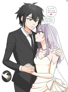 Hai~ My heart belongs to Owari no seraph, but I'm into RWBY anf Fate series as well. Yuunoa is life. Anime Couples Drawings, Couple Drawings, Cute Anime Couples, Shinoa Hiiragi, Fairy Tail Couples, Seraph Of The End, Hot Anime Boy, Owari No Seraph, Photoshop Cs5