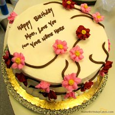 Write name on Beautiful Birthday Cake For Mother - Happy Birthday Wishes