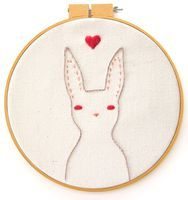 Rabbit Embroidery Pattern - Bee's Knees Industries Blog | Art, Crafts, Tutorials, Printables and More for Kids and Adults Alike