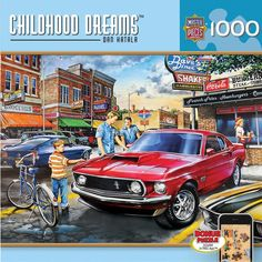 Childhood Dreams - Dave's Diner - 1000 Piece Jigsaw Puzzle