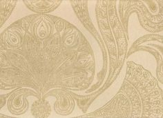 Malabar Wallpaper Gold on beige Indian paisley design wallpaper