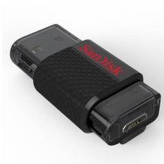 SanDisk Ultra Dual USB Drive 16 GB Przenoszenie plików z urządzeń mobilnych do komputera jeszcze nigdy nie było tak proste! SanDisk Ultra Dual, umożliwia łatwe przenoszenie plików między smartfonem a tabletem z systemem Android i komputerem. Urządzenie posiada złącze microUSB na jednym końcu i złącze USB 2.0 na drugim, dzięki czemu transfer plików zajmuje jeszcze mniej czasu