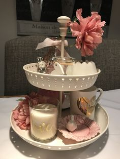 Tiered tray for Valentine's