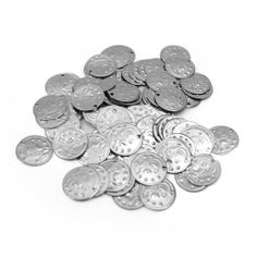 2000pc BellyLady Belly Dancing Coins, With Cavalier Design On One Side SILVER