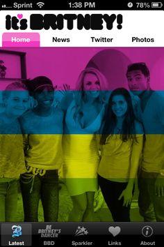 New homescreen up in the App! Go #BritneyTeens!