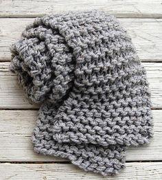 Bulky Extra Long Knit Scarf