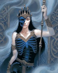 "Alex Stone on Twitter: ""#BlueArt… "" Hel Goddess, Goddess Art, Norse Pagan, Norse Mythology, Thor, Loki, Dark Fantasy, Fantasy Art, Character Inspiration"
