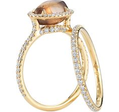 Like this setting type for the raw look but not the brown color stone Diamond in the Rough - Classic engagement ring