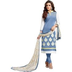 Buy GRAY CHANDERI UNSTITCHED DRESS MATERIAL by undefined, on Paytm, Price: Rs.699?utm_medium=pintrest