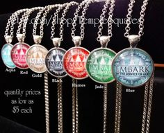 Beautiful 1 pendant with EMBARK YW Young Women 2015 Theme. Great Quantity prices as low as $5 each necklace! Glass Domed Pendant is shiny silver