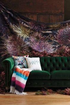 Anthropologie Velvet Lyre Chesterfield Sofa, Wilcox #AnthroFave