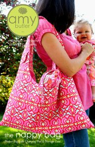 Amy Butler Nappy Bag + Diaper Changing Pad pattern
