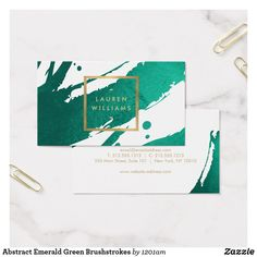 Shop Abstract Emerald Green Brushstrokes Business Card created by Personalize it with photos & text or purchase as is! Vintage Graphic Design, Graphic Design Layouts, Logo Design, Graphic Design Posters, Branding Design, Design Design, Identity Branding, Poster Designs, Corporate Design