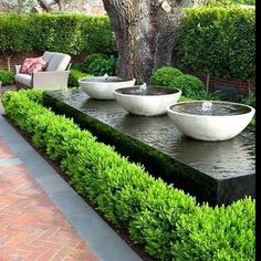 Image result for pinterest water features in contemporary gardens