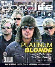 GoodLife Mississauga January/February 2012 Platinum Blonde cover