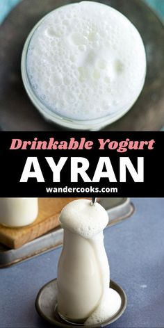 This refreshing drink is an addictive way to rehydrate on a hot summer day. Mixed with sea salt, Ayran is a Turkish yoghurt drink frothed to perfection in seconds and served up icy cold. It pairs perfectly with a hot meal like Karniyarik. Turkish Yogurt, Vietnamese Iced Coffee, 5 Minute Meals, Fancy Drinks, Cook At Home, Easy Weeknight Meals, New Flavour, World Recipes, Curries