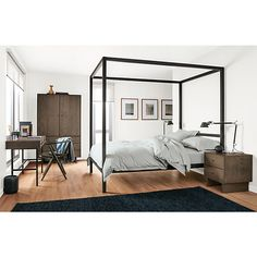 Architecture Canopy Bed - Architecture Bed - Beds - Bedroom - Room & Board