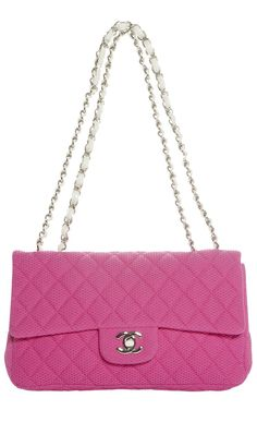 Chanel Pink Quilted Fabric Flap Bag l Vaunte