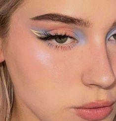 Cute Makeup Looks, Makeup Eye Looks, Eye Makeup Art, Pretty Makeup, Love Makeup, Skin Makeup, Eyeshadow Makeup, Pastel Makeup, Edgy Makeup