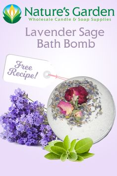 Free Lavender Sage Bath Bomb Recipe by Natures Garden