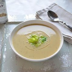 Celery Root Soup with Truffle Oil HealthyAperture.com