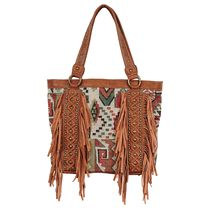 Aztec Fringe Handbag - CLEARANCE