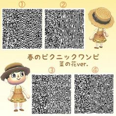 Gaming PinWire: Pin by Ava on Animal Crossing - acnl-qr-code - Animal Crossing 3ds, Animal Crossing Qr Codes Clothes, Animal Crossing Pocket Camp, Gato Animal, My Animal, Motif Acnl, Ac New Leaf, Motifs Animal, Leaf Template