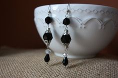 Elegant Black and silver beaded long by AddSomeCharmBoutique, $7.95