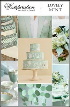 Found on: Pinterest (http://pinterest.com/wedspiration/wedding-color-mint-themakleur-mint/) - Pinterested @ http://wedspiration.com.