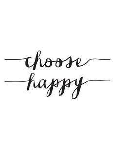 Giclee Print: Choose Happy BW by Brett Wilson : 24x18in
