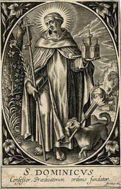 Saint Dominic, Catholic, Black And White, Painting, Traditional, Saints, Rosary Mysteries, Sacred Art, Santo Domingo