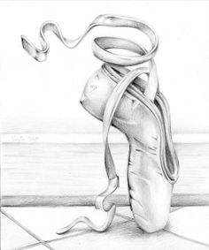 ballet shoes drawing - Google Search