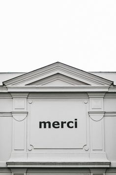 Merci, ParisFrom Cereal Volume 5Photo by Rich Stapleton,  Stylelist.ED, stylelistED, Eva Vaughan, typography, type, logo, font, graphic design, minimal, layout.