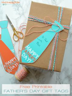 Free Printable Father's Day Gift Tags | Super cute neck tie gift tags...perfect for dear ol' dad!